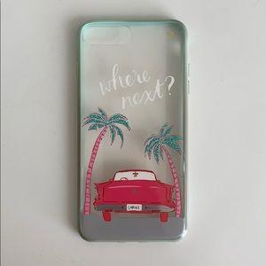 "Kate Spade ""where next?"" iPhone 7plus case"